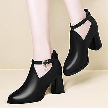 GTVERNH-Con la caída de todo el partido con zapatos de tacon grueso mujer  zapatos zapatos zapatos negros Round British Winter TIDE  Amazon.es   Deportes y ... d49f94d128d0