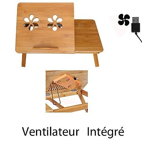Mesa para cama incluye ventilador USB – plegable para PC Ordenador/Portátil/Notebook +