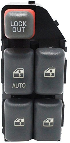 Front Left Driver Side Power Window Master Switch for 2000-2005 Chevrolet Cavalier Pontiac Sunfire 4Door