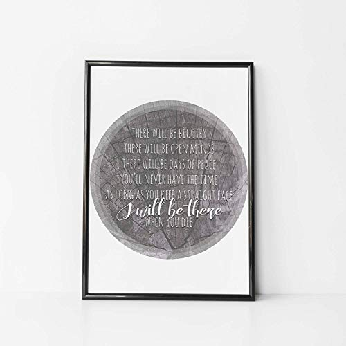 My Morning Jacket Lyrics Print Canvas I Will Be There When You Die Lyrics Wedding Lyrics My Morning Jacket Poster Rustic Wedding
