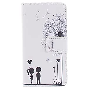 WQQ Dandelion and lovers Pattern PU Leather Case with Stand for Samsung Galaxy S5 i9600