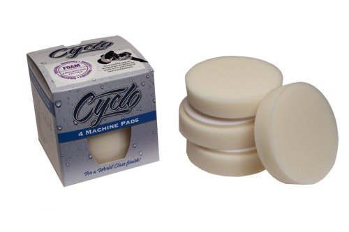 Cyclo (72-110x4-4PK) White Foam Finishing Pad with Loop, (Pack of -
