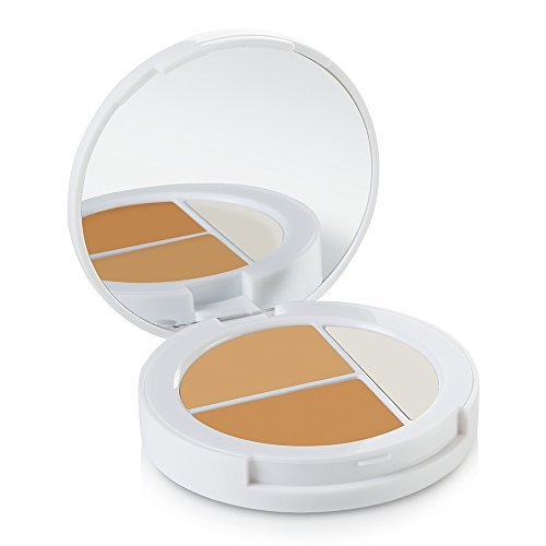 Sheer Natural Cover Minerals Makeup (Sheer Cover Studio – Conceal and Brighten Highlight Trio – Two-Toned Concealers – Shimmering Highlighter – Medium/Tan Shade – With FREE Concealer Brush – 90 Day Supply/3 Grams)