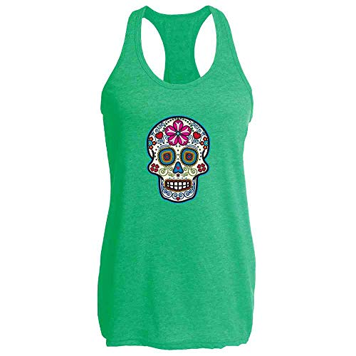 Sugar Skull Dia de Los Muertos Horror Retro Heather Kelly S Womens Tank Top