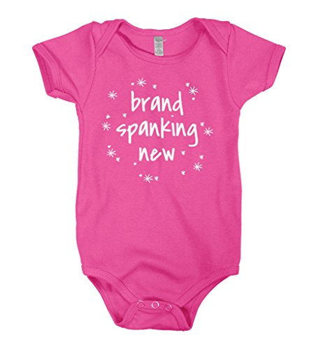 Mixtbrand Baby Boys' Brand Spanking New Infant Bodysuit NB Hot Pink