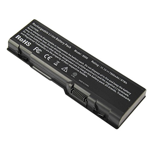 ARyee DELL XPS E1705 Battery DELL Inspiron 6000 9200 9300 DELL Precision M6300 DELL Precision M90 Replacement Fit G5260 G5266 U4873 Y4873 YF976 D5318 F5635 [11.1V 7800mAh] - 0349 Li Ion Battery