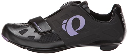 Pearl Izumi Women's W Elite RD IV Cycling Shoe, Black/Purple Haze, 39.5 EU/7.9 B US