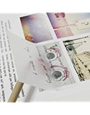 MultiBey Transparent Sticky Note Pads Memo 3 X 3 inches Square Styles Self Adhesive Removable N Times, Pack of 10 (Clear, 3 x 3)