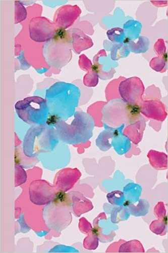 Sketch Journal Watercolor Spring Flowers Pink 6x9 Pages Are
