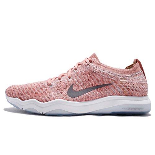 Nike Womens Wmns Air Zoom Onverschrokken Fk Lux, Roestroze / Gunsmoke-wit, 8 Us