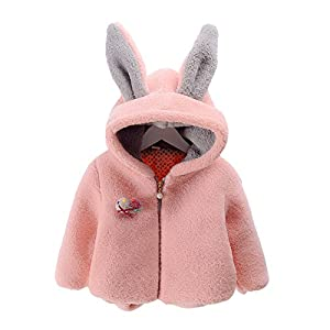 Ding-dong Baby Kid Rabbit Ears Hooded Coat