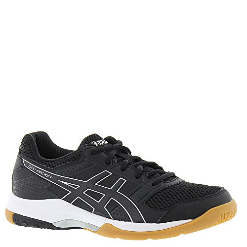 ASICS Womens Gel-Rocket 8 Volleyball Shoe, Black/White, 6.5 Medium US