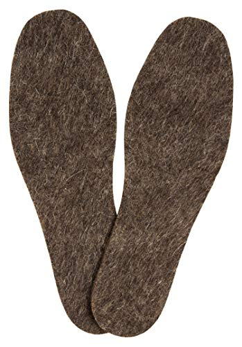 (Men Shoe Felt Insoles - Pure 100% Wool - Great for Walk, Working or Rain Boots, Sport or Garden Shoes - 6 mm (1/4'') Thick - 2 psc in Pack)