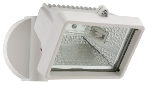 Lithonia OFLM 150Q 120 LP WH M12 Mini Single-Head Flood Light 150-Watt Double Ended Quartz Halogen Lamp