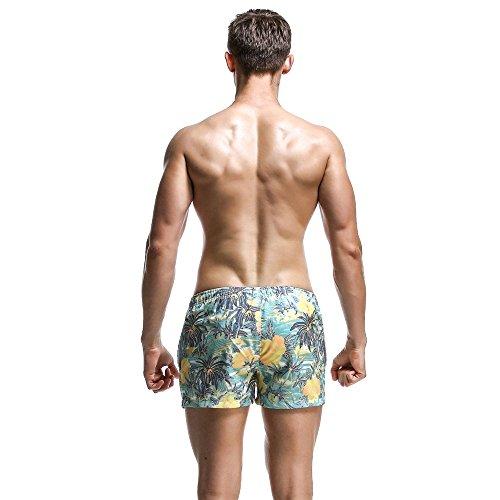 Baño Surf Oscuro Color Juego Verano Peso Playa Deportivos Pantalones Ligero De Transpirables Secado Blue Acogedor Rápido Sueltos Ocio Azul Ho Deep xFzqHH