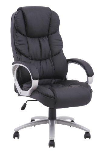 Ergonomic Pu Leather High Back Office Chair, Black