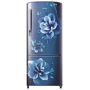 Samsung 192 L 3 Star inverter Direct Cool Single Door Refrigerator (RR20A272YCU/NL, Camellia Blue)