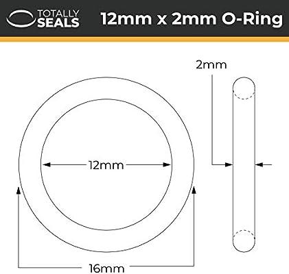 Viton FKM 13 mm x 2 mm, dureza 75A Anillas de goma