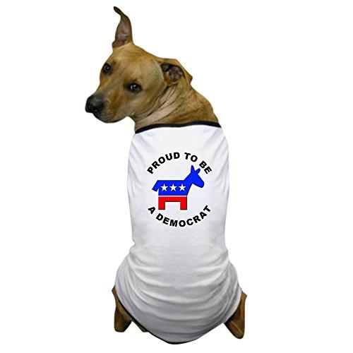 (CafePress - Proud Democrat - Dog T-Shirt, Pet Clothing, Funny Dog Costume)