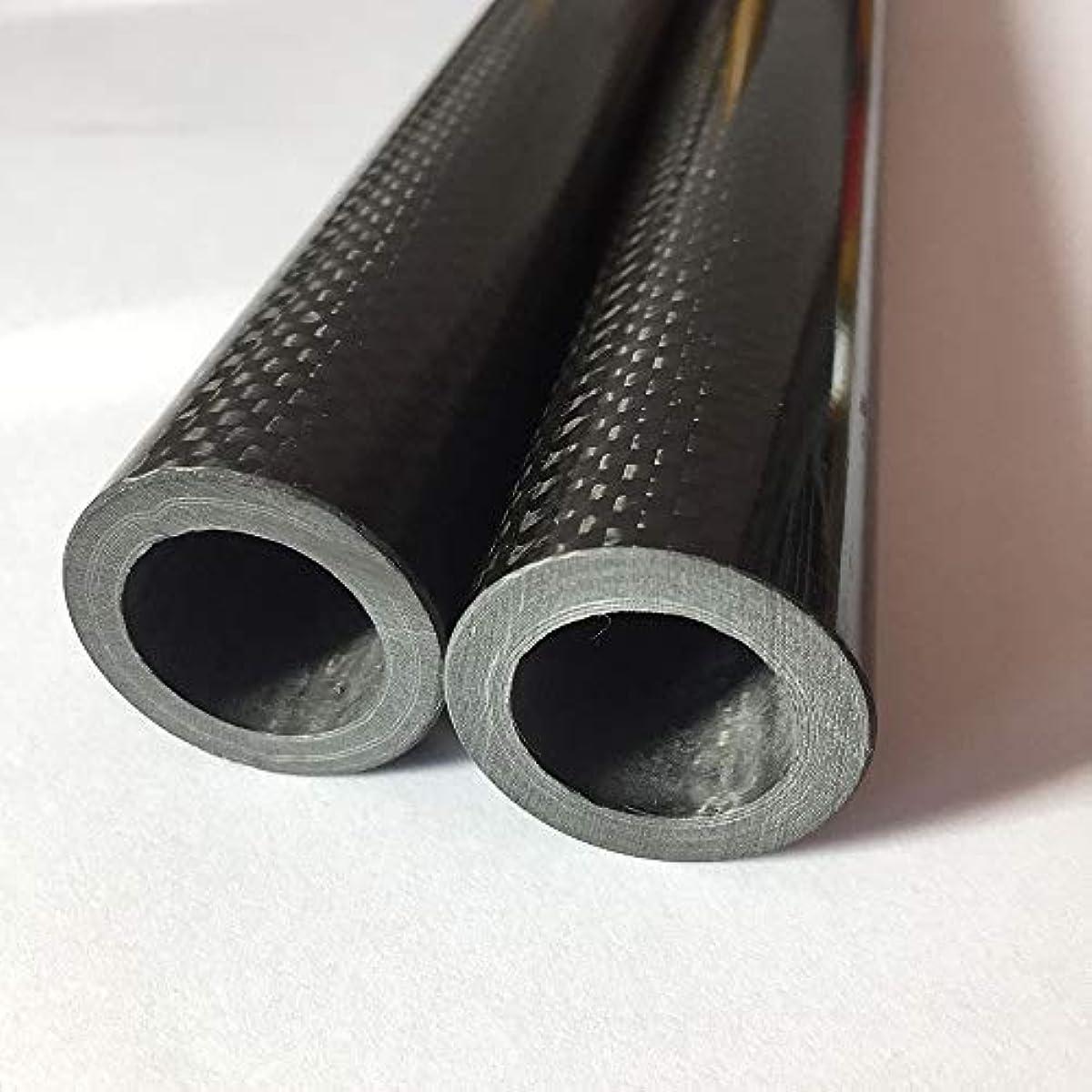 [해외] ABESTER 3K 카본 파이프 중공 튜브 탄소 섬유 안쪽 치수6MM X 외지름10MM X 길이500MM (pos /2개) 평옷감 광택이 있는 표범면 (1개 10MM X 6MM X 500MM)