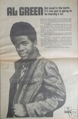 Al Green Rare 1971 Soul LP Album Promo Poster Newspaper Ad from ConcertPosterArt