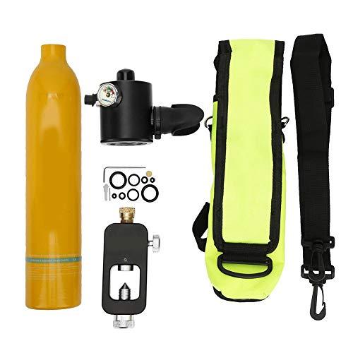 Diving Oxygen Tank, 0.5L Portable Mini Scuba Cylinder Oxygen Tank 6061 Aviation Aluminum Underwater Respirator Snorkeling Oxygen Bottle Scuba Tank Dive Equipment Accessory for Scuba Divers(Orange)