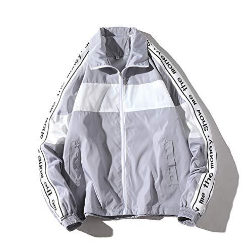 Lunga Zipper Uomo Gray Botia Giacca Manica Vento A Cappotto Streetwear Cappotti Hop Giacche Hip Splice qSw0E1