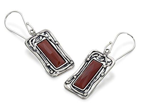 Sterling Silver Carnelian Earrings - 6