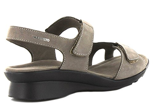 Mephisto PARIS BUCKSOFT 6925 PEWTER - Sandalias de vestir de cuero para mujer gris