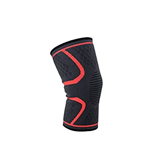 Knee brace & Knee Sleeve with knee support for running, basketball, crossfit, sports. Helps with recovery, meniscus tear