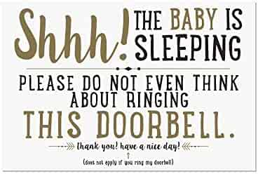 Artisan Owl Shhh! The Baby is Sleeping Door Magnet - 4x6 All Weather Made in The USA Magnet Sign (1 Magnet)