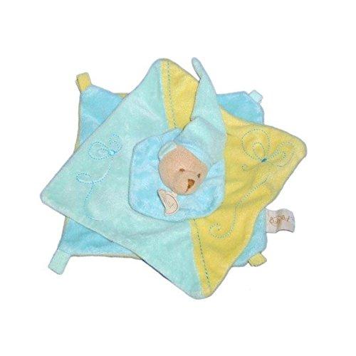 Doudou plat OURS bleu Bonnet - BABY NAT