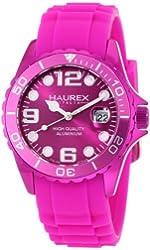 Haurex Italy Women's 1K374DP3 Ink Purple Rubber Band Aluminum Watch