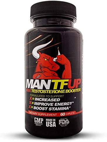 DynamismLabs MANTFUP – Men s Test Booster – Natural Stamina, Endurance and Strength Booster- 60 Caplets