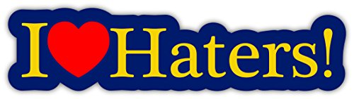 I Love Haters Hip Hop JDM Racing Sticker Japanese Cars Sticker Decal 2x7 (Hip Hop Sticker)