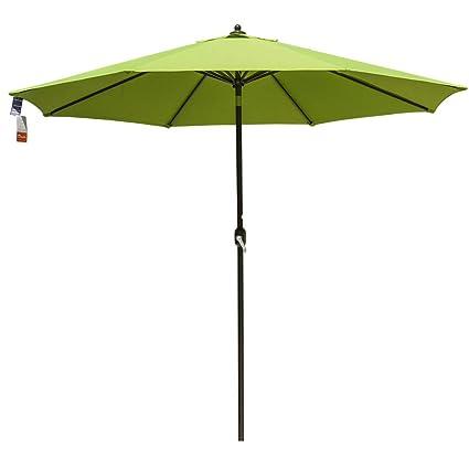 e35e73cdcf66 Sundale Outdoor 11 Ft Sunbrella Canopy Patio Market Umbrella Garden Outdoor  Aluminum Umbrella with Crank and Push Button Tilt, Macaw