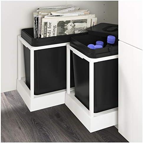 Ikea Asie Variera Poubelle De Tri Noir Amazon Fr Cuisine Maison