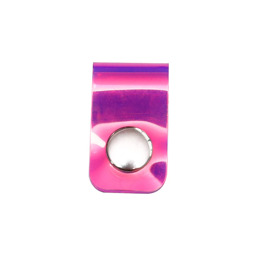 ♚Rendodon♚ Daily Storage Buckle Data Cable, hub, Household Cleaning Storage Tool, Line Storage Clip Laser Snap Button Winder Portable Earphone Data Cable Storage (Hot Pink)