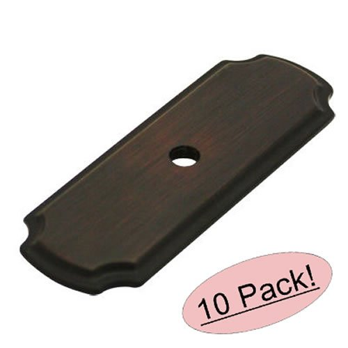 Cosmas B-112ORB Oil Rubbed Bronze Cabinet Hardware Knob Backplate / Back Plate - 10 Pack