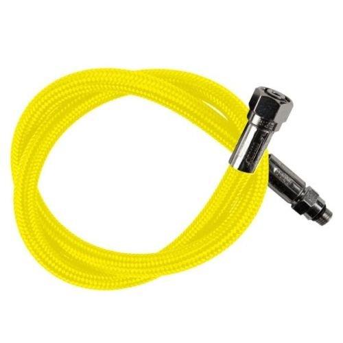 (New Oceanic Aeris 36 Inch Low Pressure Braided Scuba Regulator Hose (Neon Yellow-MaxFlex))