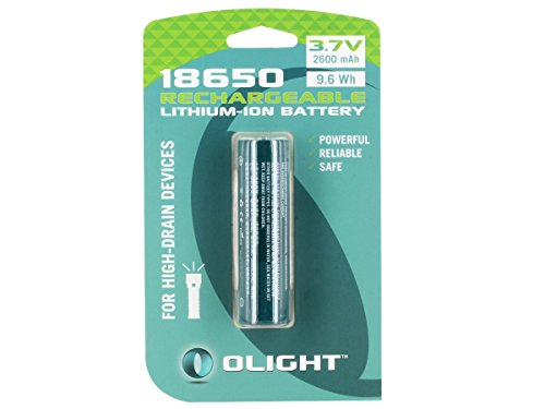 Olight 2600mAh Protected 18650 Rechargeable Li-ion Batteries
