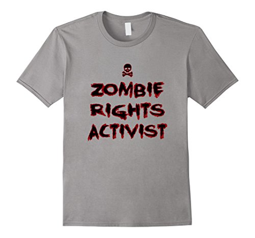 Mens Zombie Rights Activist Funny Zombie Tee, Hallowee T-Shirt 2XL (Men's Rights Activist Halloween Costume)
