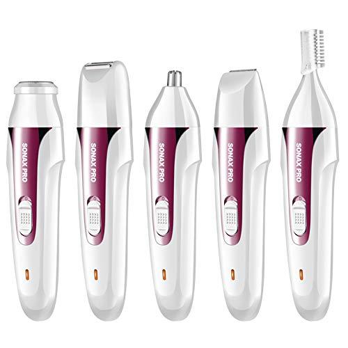 Multi-funcionales damas afeitadora eléctrica, seguridad nariz pelo ...