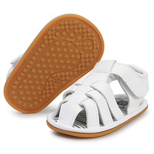 BENHERO Infant Baby Boys Girls Sandals Soft Sole Non Slip Toddler Prewalker Crib Summer Outdoor Walking Shoes (0-6 Months M US Infant), 3315 ()