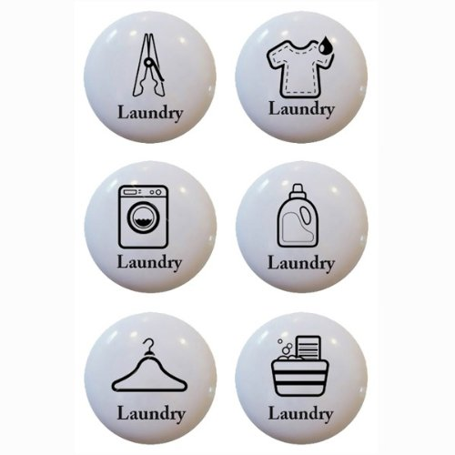 Attirant Set Of 6 Laundry Theme Ceramic Knobs Pull Kitchen Drawer Cabinet Bar Closet  611   Cabinet And Furniture Knobs   Amazon.com