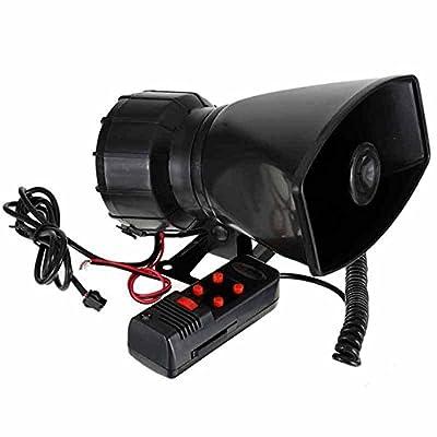 BININBOX 100W Loud Car Warning Alarm Police Fire Siren Horn Loud Speaker MIC 5 Sound 12V