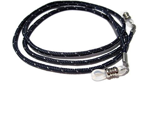 ATLanyards Navy Blue Paracord Eyeglass Chain, Eyeglass Lanyard Cord, Clear Grips, - Sunglasses Paracord Lanyard