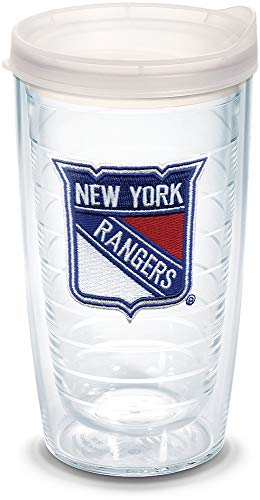 Tervis 1044681 NHL New York Rangers Primary Logo Tumbler with Emblem and Frosted Lid 16oz, -