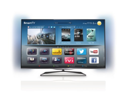 """Philips 42"""" 42PFL5008T Full HD 1080p Smart (WiFi) 3D LED TV with FreeView HD and Ambilight (New for 2013)"""