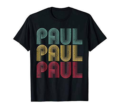 PAUL NAME Shirt Vintage Retro Personalized 70's 80's Gift]()